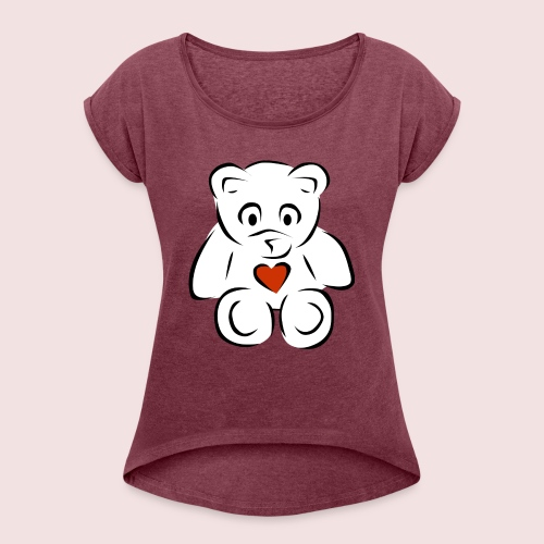 Sweethear - Women's Roll Cuff T-Shirt
