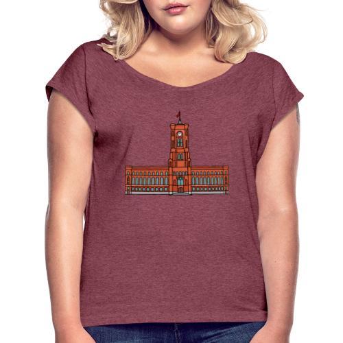 Red City Hall Berlin - Women's Roll Cuff T-Shirt