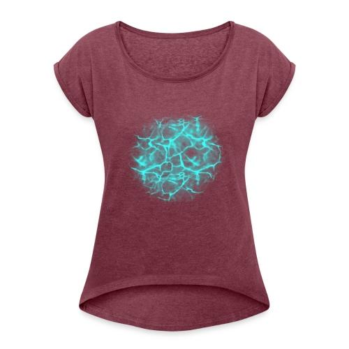 Water effect - Women's Roll Cuff T-Shirt