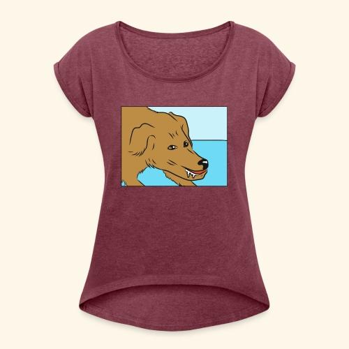 wikiHow dog - Women's Roll Cuff T-Shirt
