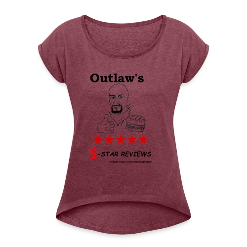 Outlaw Generation Logo - Women's Roll Cuff T-Shirt