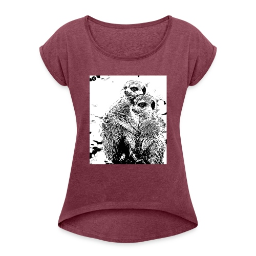 twomangosta - Women's Roll Cuff T-Shirt