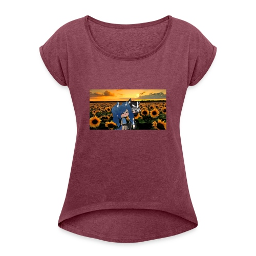 Gacha Lunar Moon merch - Women's Roll Cuff T-Shirt