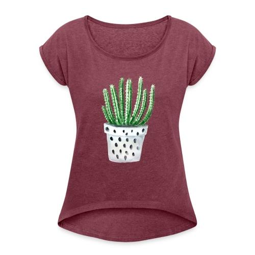 Cactus - Women's Roll Cuff T-Shirt