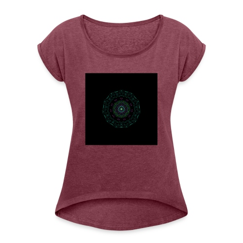 Spring Mandala - Women's Roll Cuff T-Shirt