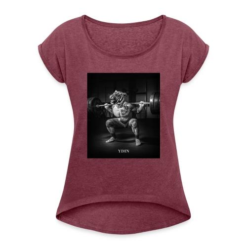 SquattingTiger - Women's Roll Cuff T-Shirt
