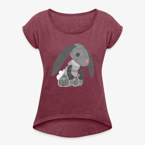 Robot Bunny - Women's Roll Cuff T-Shirt