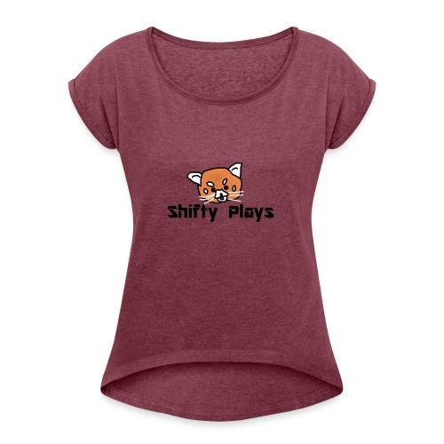 Shifty: Red Panda Tee Male - Women's Roll Cuff T-Shirt