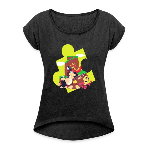 banjo - Women's Roll Cuff T-Shirt