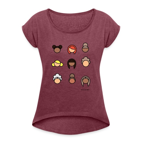 CHOCOLATE MILK Ladies - Women's Roll Cuff T-Shirt