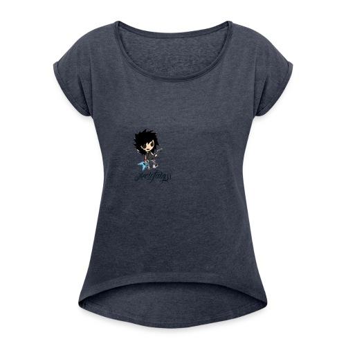 axelofabyss self portrait - Women's Roll Cuff T-Shirt