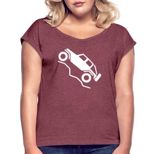 Offroad 4wd Rock Crawling Logo - Women's Roll Cuff T-Shirt