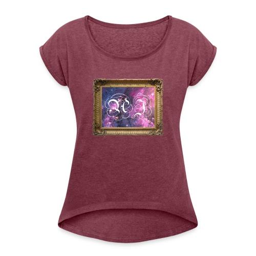galaxy - Women's Roll Cuff T-Shirt