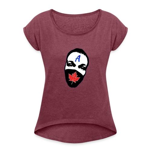 STA Logo - Women's Roll Cuff T-Shirt