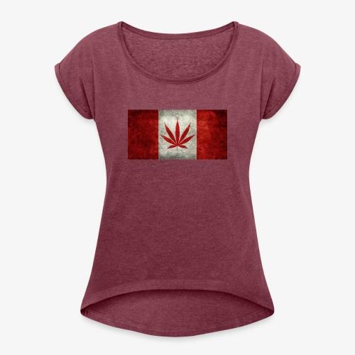 Leaf - Women's Roll Cuff T-Shirt