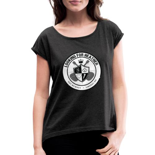 Looking For Heather - Crest Logo - Women's Roll Cuff T-Shirt