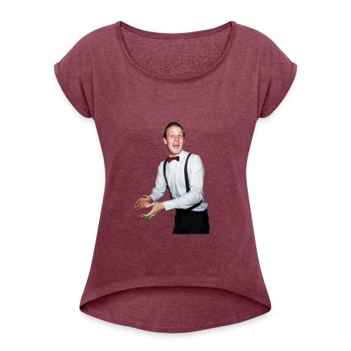 Matt Orange shirt. Christmas presant. - Women's Roll Cuff T-Shirt