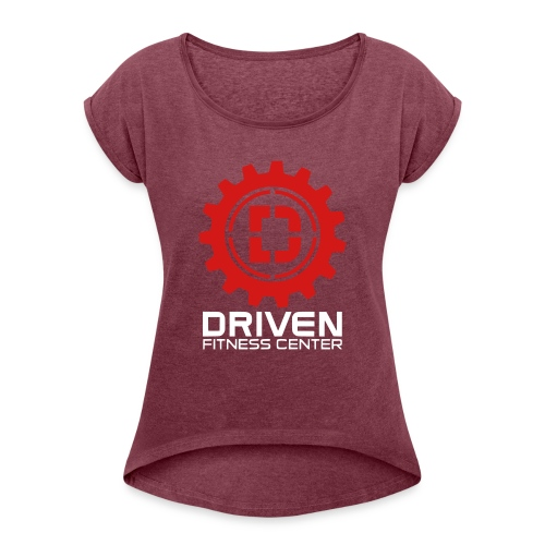 Stacked Logo - Women's Roll Cuff T-Shirt