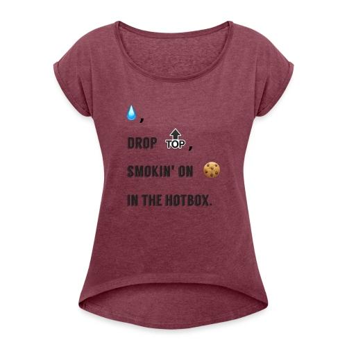 Raindrop - Women's Roll Cuff T-Shirt