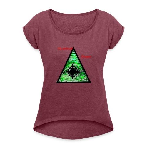 illuminati Confirmed - Women's Roll Cuff T-Shirt