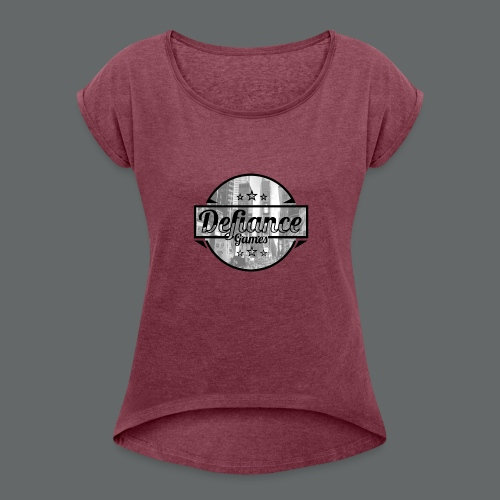 Defiance Games Street Logo Shirt - Women's Roll Cuff T-Shirt