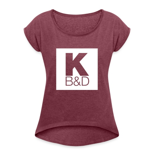 KBD_White - Women's Roll Cuff T-Shirt