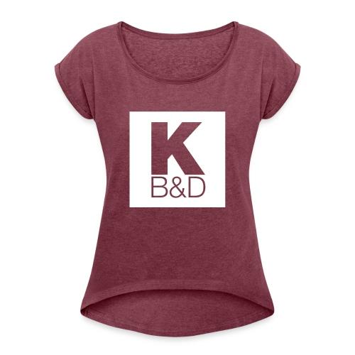 KBD_White - Women's Roll Cuff T-Shirt