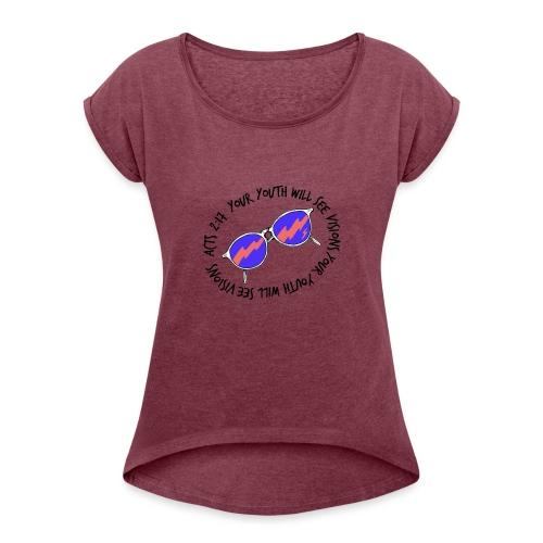 oie_transparent_-1- - Women's Roll Cuff T-Shirt