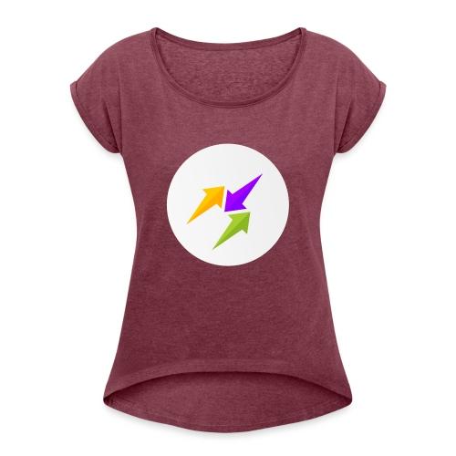 GosuTactics Logo - Women's Roll Cuff T-Shirt