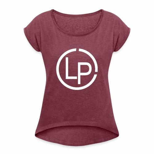 RoundWhite1 x1 - Women's Roll Cuff T-Shirt