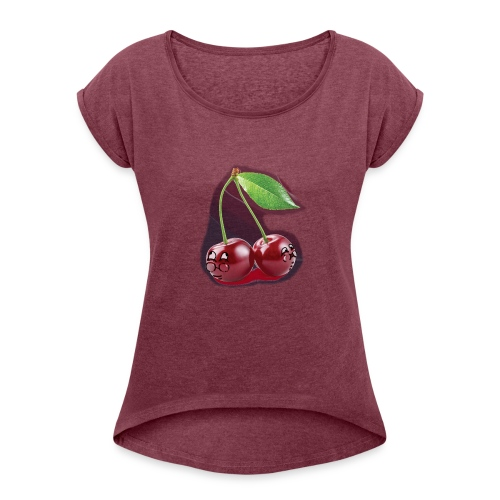 Cherry Bombs - Women's Roll Cuff T-Shirt