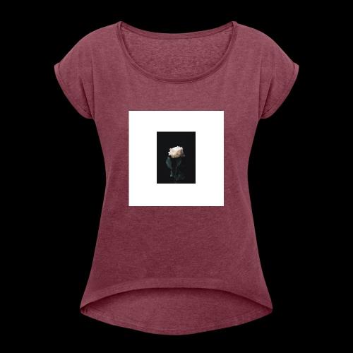 Winter Rose - Women's Roll Cuff T-Shirt