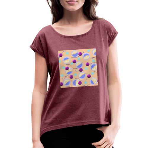 lovely cosmos - Women's Roll Cuff T-Shirt