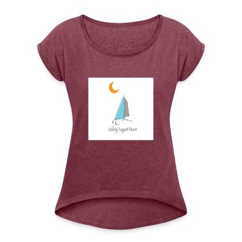 August Moon/Moon - Women's Roll Cuff T-Shirt