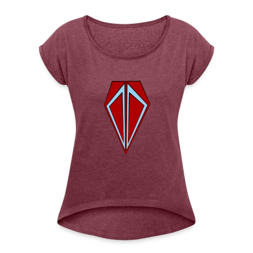 Mining Bros Logo - Women's Roll Cuff T-Shirt