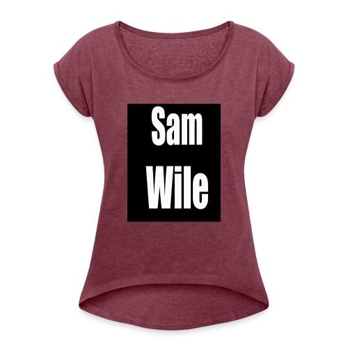 samlogo - Women's Roll Cuff T-Shirt