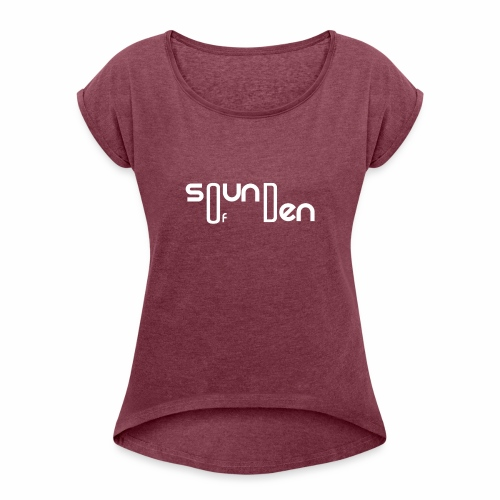 Soundofden The white classical Logo - Women's Roll Cuff T-Shirt