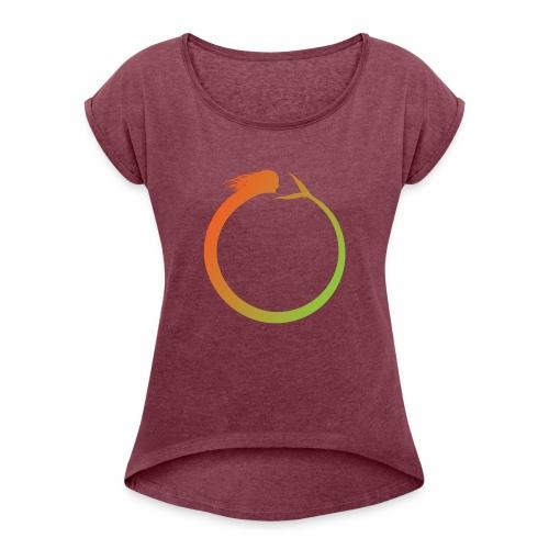 Circle Swimmer - Women's Roll Cuff T-Shirt