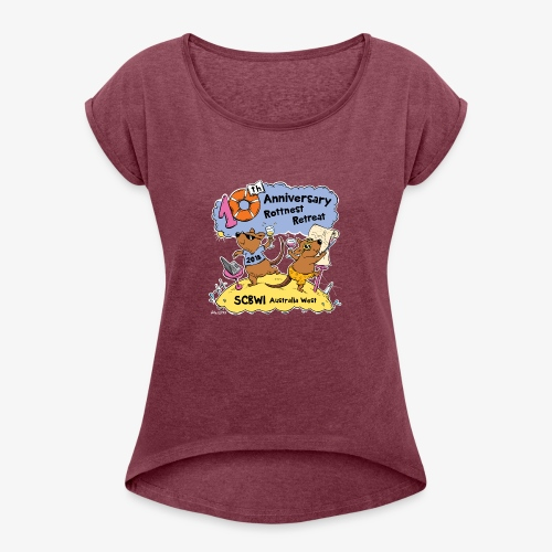 SCBWI 2018 (5) - Women's Roll Cuff T-Shirt