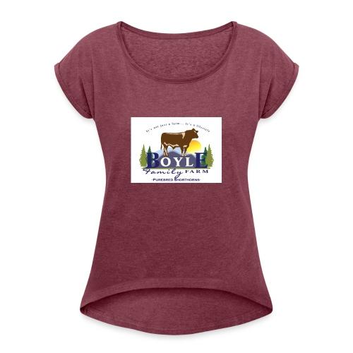 Farm logo - Women's Roll Cuff T-Shirt