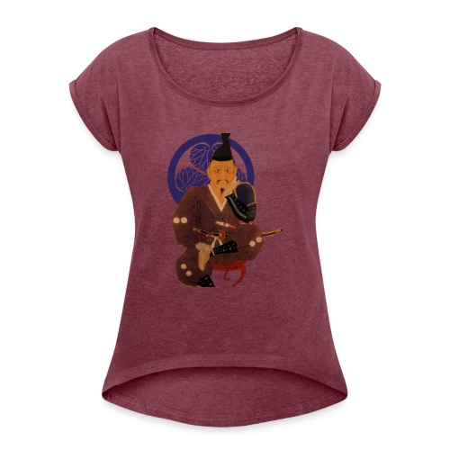 Ieyasu - Women's Roll Cuff T-Shirt