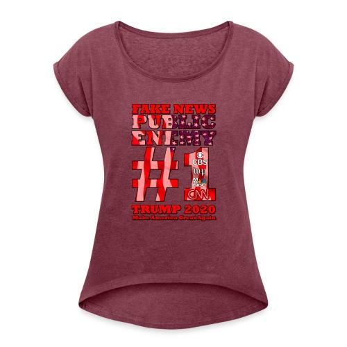 FakeNews - Women's Roll Cuff T-Shirt
