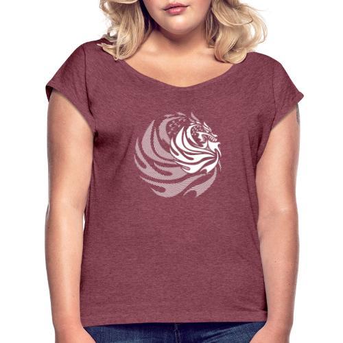 Fire Dragon - Women's Roll Cuff T-Shirt