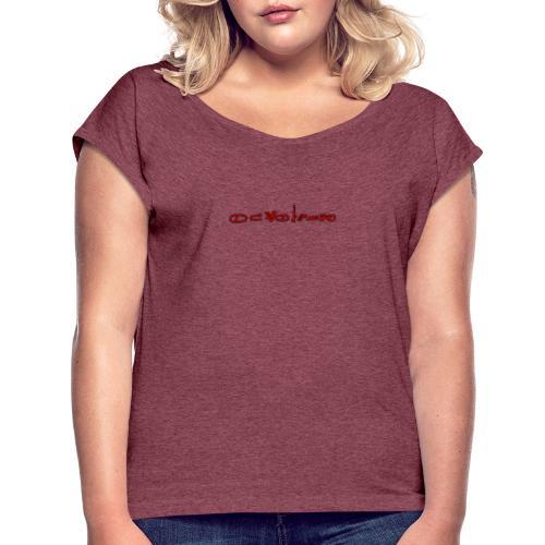 Sign1News in written ASL (Exclusive Design) - Women's Roll Cuff T-Shirt