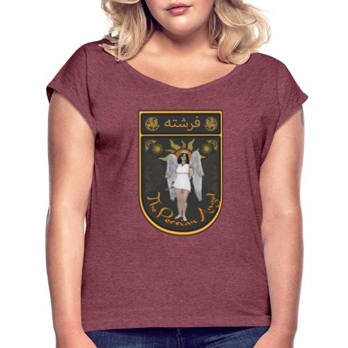 Persian Angel Anahita - Farsi Angel - Women's Roll Cuff T-Shirt