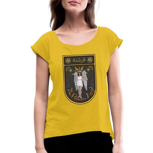Persian Angel Anahita - Farsi Angel - Women's Roll Cuff T-Shirt