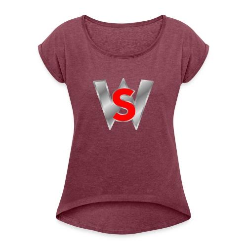 Shahmar woleslagle merch - Women's Roll Cuff T-Shirt