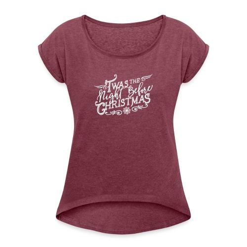 WHTChristmas Logo Final 3x - Women's Roll Cuff T-Shirt