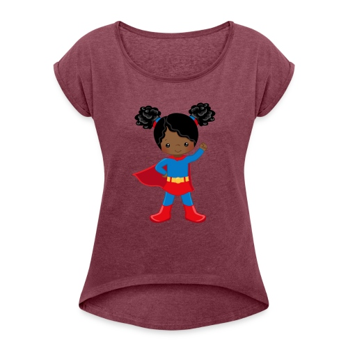 SUPER SIMONE - Women's Roll Cuff T-Shirt