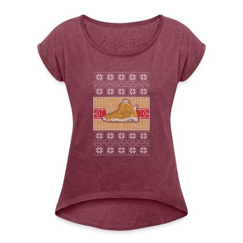 Retro6Sweater - Women's Roll Cuff T-Shirt